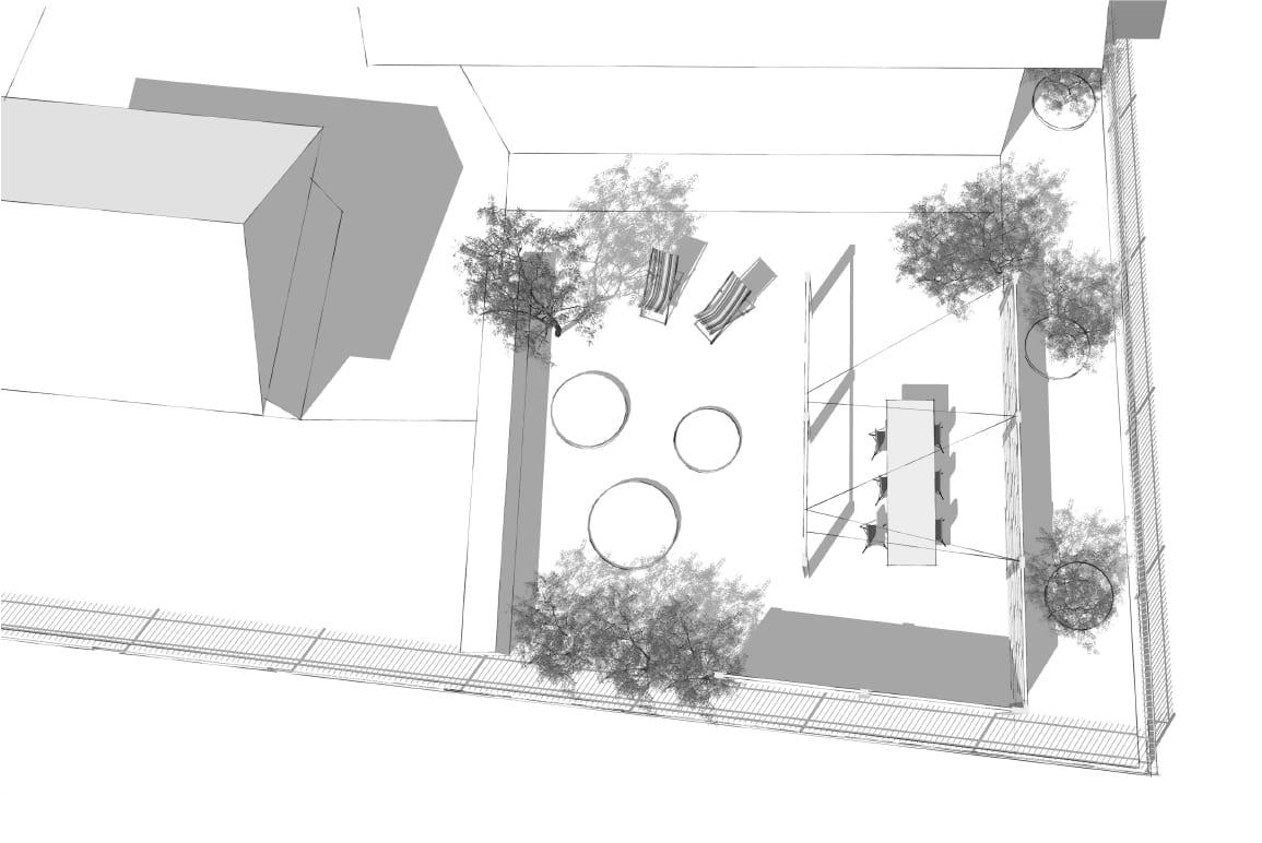 Garten Brittnau, Luzern, Visualisierung / 3D Modell, LAND SCHAFFT Landschaftsarchitektur Sursee / Luzern