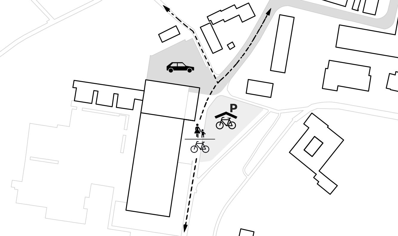 Konzeptgrafik Wettbewerb, Hallenbad Frauenfeld, Thurgau